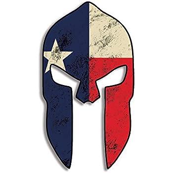 american vinyl spartan helmet shaped texas flag sticker pro gun old distressed nra. Black Bedroom Furniture Sets. Home Design Ideas