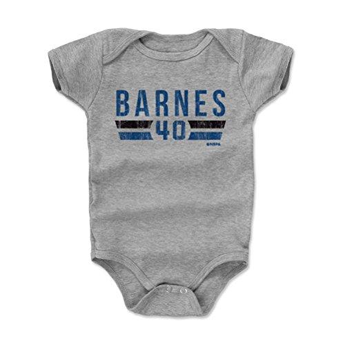 (500 LEVEL Harrison Barnes Baby Clothes, Onesie, Creeper, Bodysuit 6-12 Months Heather Gray - Dallas Basketball Baby Clothes - Harrison Barnes Dallas Font B)