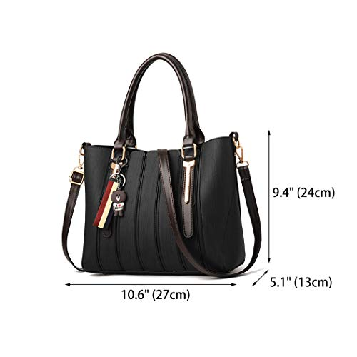 Bags Black Bags Body Bags Faux Women's Leather Shoulder Handle Handbags Cross Top gvpnxP