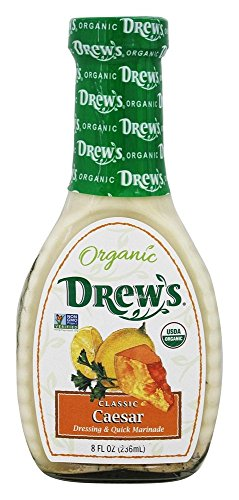 Drew's All Natural Organic Caesar Salad Dressing, Classic, 8 Ounce