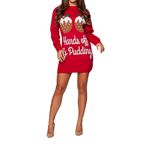 2 Womens Ladies Want I Merry Xmas 8 Red All Baby Dress Its Cold Christmas Pudding Novelty Uk 26 Knitted Jumper Midi Tunic Reindeer bvgyYf76