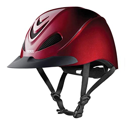 TROXEL LIBERTY HELMET - RUBY RED - LOW PROFILE ENGLISH & WESTERN RIDING SAFETY (Small)