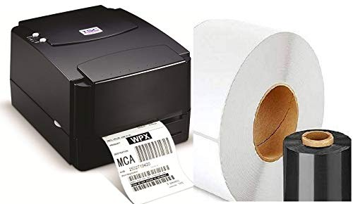 TSC TTP 244 PRO Barcode Printer with Mindware Labels and Ribbon Free