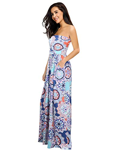 (Leadingstar Women's Wrapped Chest A-line High Waisted Dress (Purple Circle, S))