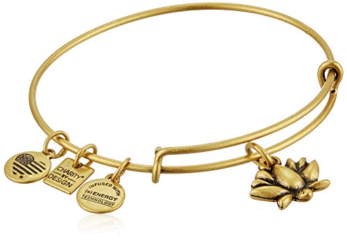 - Alex and Ani Charity By Design Lotus Blossom Rafaelian Gold Bangle Bracelet