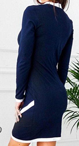 Coolred-femmes Ras Du Cou Coupé-solide De Couleur Sur Paquet De Luxe Noir Robe De La Hanche