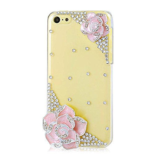 "EVTECH (TM) Coque 3D Bling Strass Case Transparent Back Cover Cristal Etui Housse Hard Coque pour iPhone 6/iPhone 6s 4,7"" (2014)"