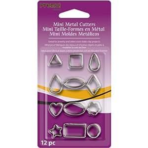 Premo Sculpey Mini Metal Cutters 12/Pkg, Geometric