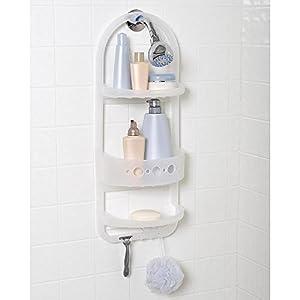 Beautiful Plastic Shower Head Caddy Hanger Shampoo Razor Soap Dish Towel Wash Cloth  Rack