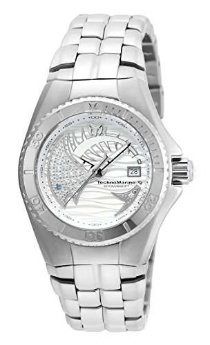 Technomarine Women's 'Cruise' Swiss Quartz Stainless Steel Automatic Watch, Color:Silver-Toned (Model: TM-115202)