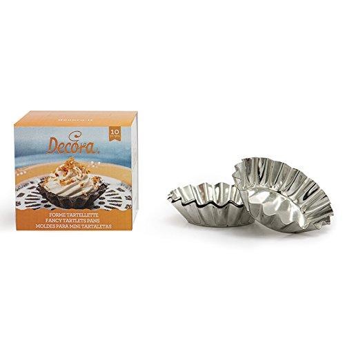 DECORA - 10 - Tartlets de Aluminio sartenes, Plateado, 8 x 2 cm: Amazon.es: Hogar