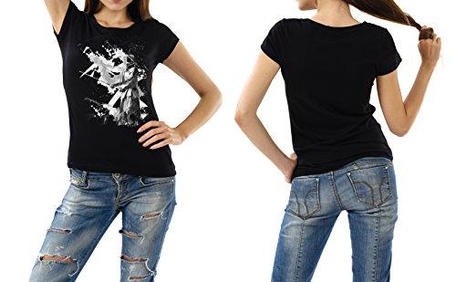 Kendo_IV schwarzes modernes Damen / Frauen T-Shirt mit stylischen Aufdruck