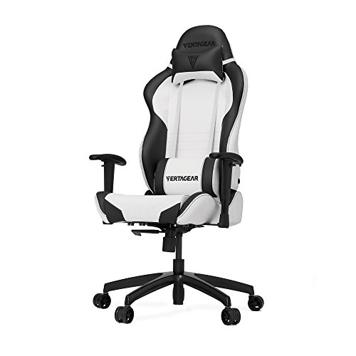 VERTAGEAR S-Line 2000 Gaming Chair, Medium, White/Black Vertagear