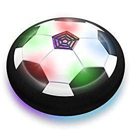 Toyk Boy Toys – LED Hover Soccer Ball – Air Power Training Ball Playing Football Game – Soccer Toys 3 4 5 6 7 8-12 Year Old Kids Toys Best Gift