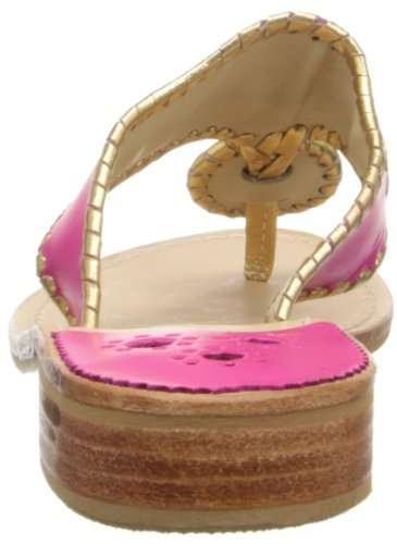 Jack Rogers Nantucket Gold, Sandali Donna Rosa (Bright Pink/Gold)