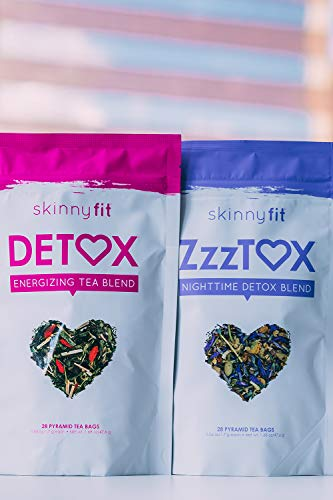 SkinnyFit Detox and ZzzTox 24/7 Bundle 56 Servings: Cleanse with All-Natural, Laxative-Free, Green Tea Leaves, Chamomile and Lavender. Gluten-Free - Slimming Way to Release Toxins and Reduce Bloating by SkinnyFit (Image #3)