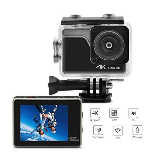 Action Camera 4K Sports Cam 30M Waterproof DV Camcorder Underwater Photography Cameras 16MP 2