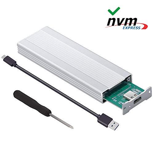 (N N.ORANIE USB 3.1 Type C to M.2 NVME Enclosure Aluminum Case, Type-C Gen2 10G JMICRON JMS583 Chip)
