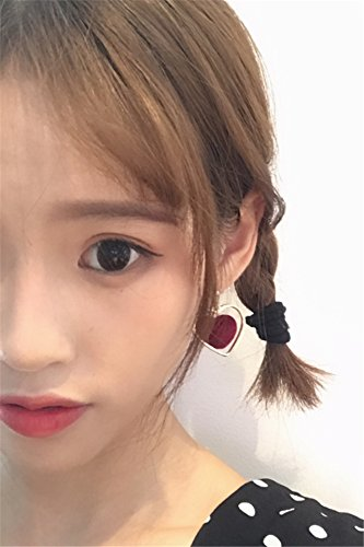 Generic Every day special | Japanese Harajuku retro sweet love hollow peach heart-shaped earrings no pierced ear clip by Generic (Image #4)
