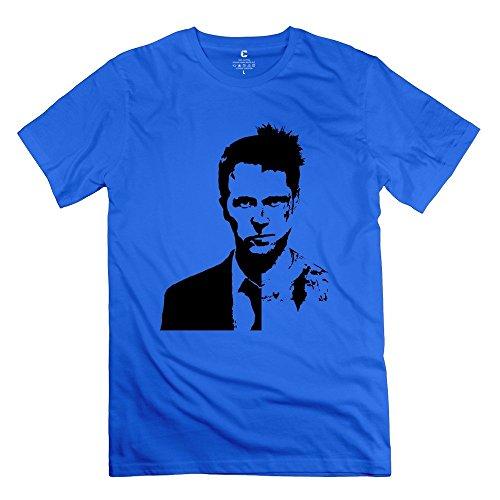 Men's Brad Pitt Fury Fight Club Se7en 100% Cotton T-shirt Size XL RoyalBlue