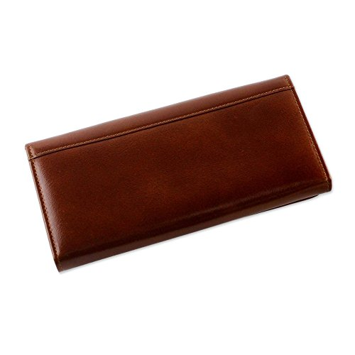 NOVICA Brown Leather Clutch, 'Touch of Love in Rust' by NOVICA (Image #1)