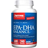 Jarrow Formulas EPA-DHA Balance Odorless, Supports Brain and Heart Health, 240 Softgels