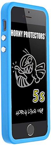 Horny Protectors iP5s-2006 Bumper TPU Schutzhülle für Apple iPhone 5S blau