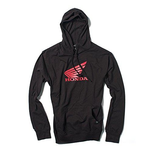 Factory Effex Unisex-Adult Honda Wing Lightweight Hooded Sweatshirt (Black, Medium), 1 Pack by Factory Effex (Image #1)