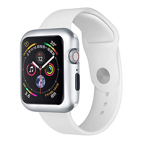 CreazyDog Magnetic Frame Watch Case Protective Cover Apple Watch Series 4 40mm/44mm (Silver, 40mm) by Creazy (Image #4)