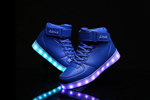 Kids Remote Shoes Sneakers Light Girls Blue ditont Boys LED Flashing up CqTF0