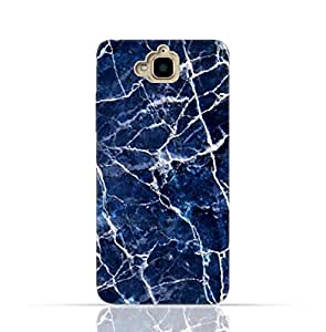 Huawei Honor Holly 2 PlusTpu Silicone Case With Abstract blue marble texture