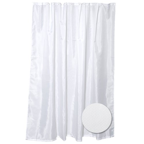 ZPC Zenith Products Corporation Fabric Shower Curtain Liner, Taupe