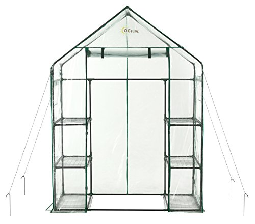 OGrow OG6834-S Deluxe WALK-IN 3 Tier 6 Shelf Portable GREENHOUSE