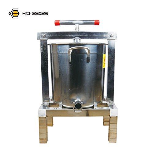 ワックス押え ミツバチの養蜂用具およびツール 蜂蜜ワックスプレス機蜂ステンレス鋼4脚 B07CZ76RNL