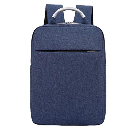 Bolsa De Hombro Paquete De Negocios Informales Ordenador Mochila Bolsa De Viaje Hombres Y Mujeres Mochila Simple Salvaje Blue
