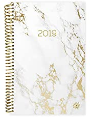 """bloom daily planners 2019 Calendar Year Day Planner - Passion/Goal Organizer - Monthly and Weekly Dated Agenda Book - (January 2019 - December 2019) - 6"""" x 8.25"""" - Marble"""