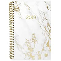 "bloom daily planners 2019 Calendar Year Day Planner - Passion/Goal Organizer - Monthly and Weekly Dated Agenda Book - (January 2019 - December 2019) - 6"" x 8.25"" - Marble"