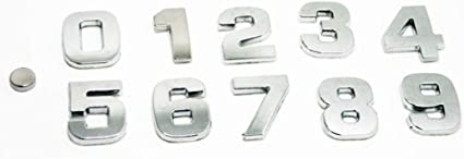 Noir, 3 Fully 1 X 2,5 cm DIY Lettres Alphabet Chiffre Symbole Charm 3D M/étal Auto-embl/ème de Voiture Autocollant