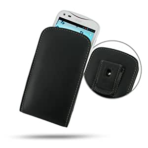 Acer Liquid E2 Duo Leather Case - V370 - Vertical Pouch Type (WITH Belt Clip) (Black) by Pdair