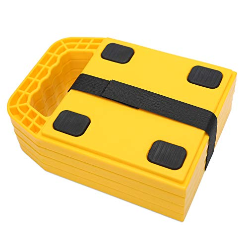 Homeon Wheels Stabilizing Jack Pads for RV, Camper Leveling Blocks Help Prevent Jacks from Sinking,8.7''X 6.3'' (Pack of 4) (Links Levelers)