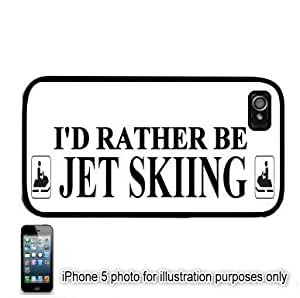 I'd Rather Be Jet Skiing Apple iPhone 5C Hard Back Case Cover Skin Black FITS FOR 5C