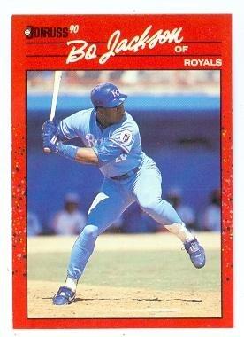 Bo Jackson Baseball Card Kansas City Royals Bo Knows 1990