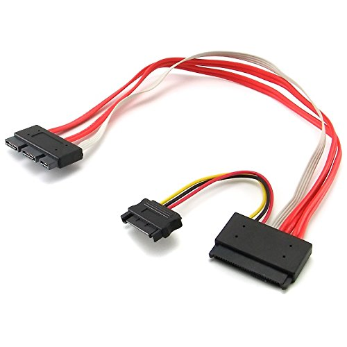 SFF-8639 SATA 3.2 Express 18pin /& 15pin to SFF-8482 SAS 29pin Data Raid Cable