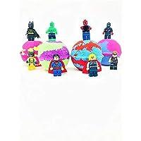 Five Superhero Inspired Kids Bath Bombs Mini Figure Gift Set with Surprise Toy Figure Inside