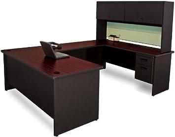 Marvel furniture pronto pronto en forme de u bureau flipper porte