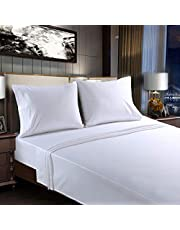 Bed Sheets Set 4 Piece - 14 Inch Deep Pocket Microfiber Super Soft 1800 Thread Count Fitted Hotel Sheets,Wrinkle and Fade Resistant
