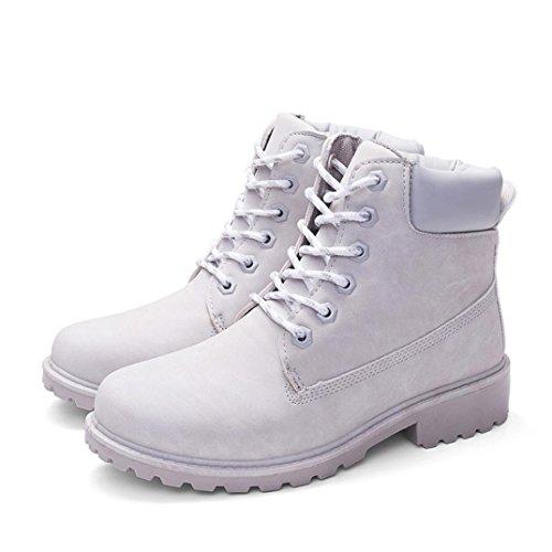 Casual Colorato Solido Scarpe Stivali Artificiale Grigio Cuoio Casual Stivali Longra Martin Stivali Casual Boots Donne Stivali Stile Invernali gYa0xt