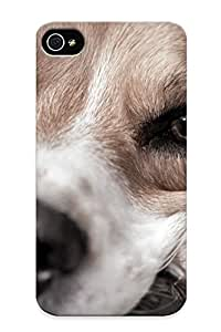 Awesome DuzxTu-1894-TXxhX Creatingyourself Defender Tpu Hard Case Cover For Iphone 4/4s- Dog Face Eyes Macro