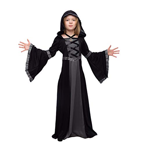 Kids Gypsy Costumes (Spooktacular Creations Hooded Robe Costume for Fortune Teller, Gypsy, Princess Girls Halloween Role-Playing Party (Medium(8-10yr)))
