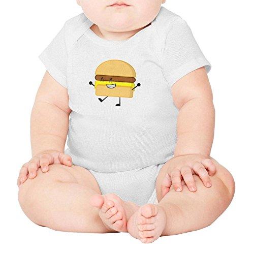 SHUOCDAH Burger Pose Baby Boys Beautiful Baby Short Sleeve Onesie